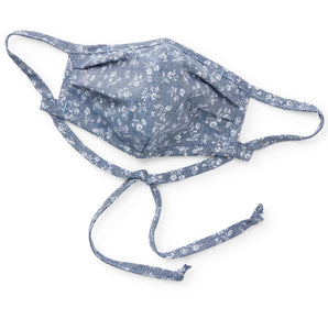 Chambray Floral Reusable Face Mask from The Foggy Dog