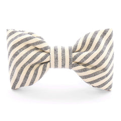 Charcoal Stripe Dog Bow Tie from The Foggy Dog