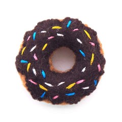 Chocolate Donut Cat Toy from The Foggy Dog
