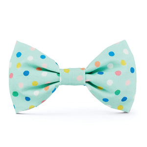 Confetti Dots Dog Bow Tie from The Foggy Dog