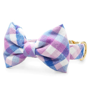 Crocus Flannel Bow Tie Collar from The Foggy Dog