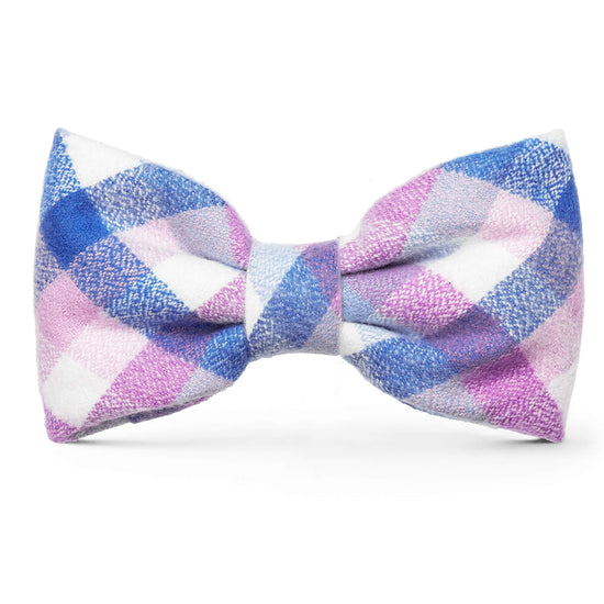 Crocus Flannel Dog Bow Tie from The Foggy Dog