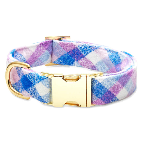 Crocus Flannel Dog Collar from The Foggy Dog