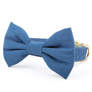 Denim Bow Tie Collar from The Foggy Dog