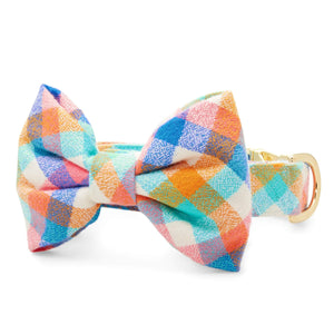 Easter Egg Flannel Bow Tie Collar from The Foggy Dog