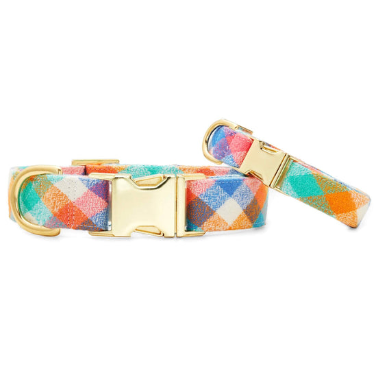 Easter Egg Flannel Dog Collar from The Foggy Dog