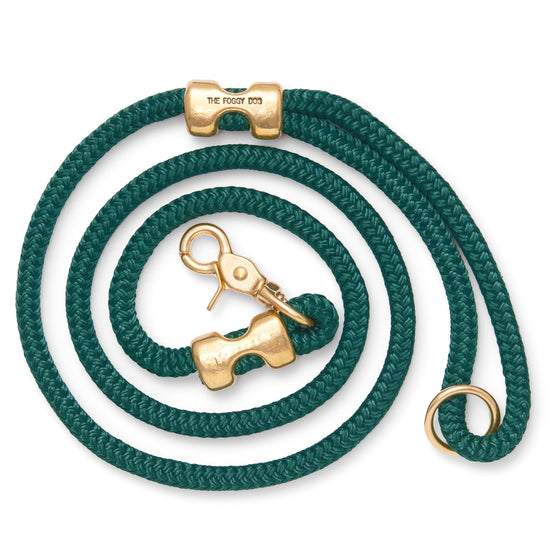 Evergreen Marine Rope Dog Leash from The Foggy Dog