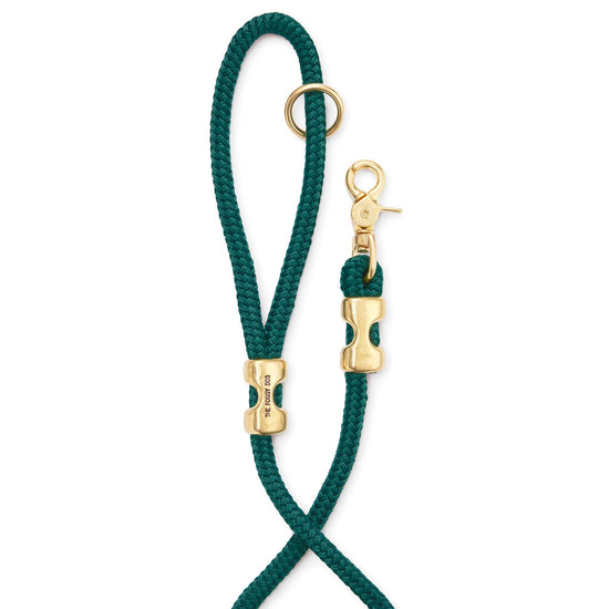 Evergreen Marine Rope Dog Leash (Standard/Petite) from The Foggy Dog