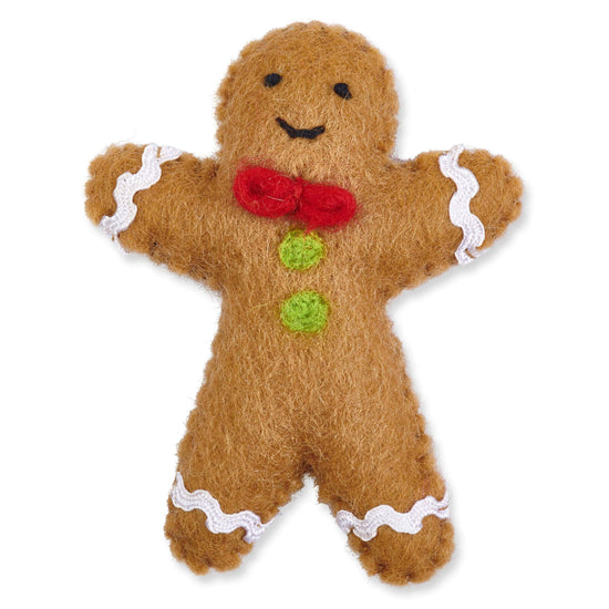 Gingerbread Man Holiday Cat Toy from The Foggy Dog