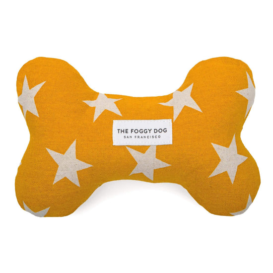 Gold Stars Dog Squeaky Toy from The Foggy Dog