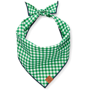 Grass Gingham Dog Bandana from The Foggy Dog