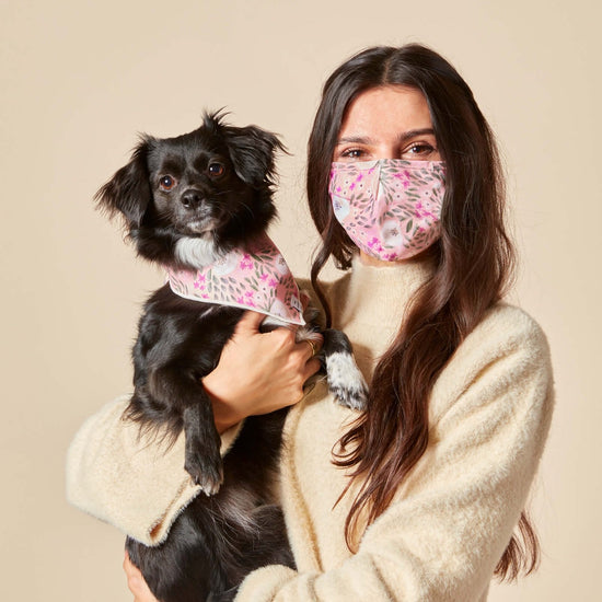 Harper Floral Face Mask and Bandana Set from The Foggy Dog