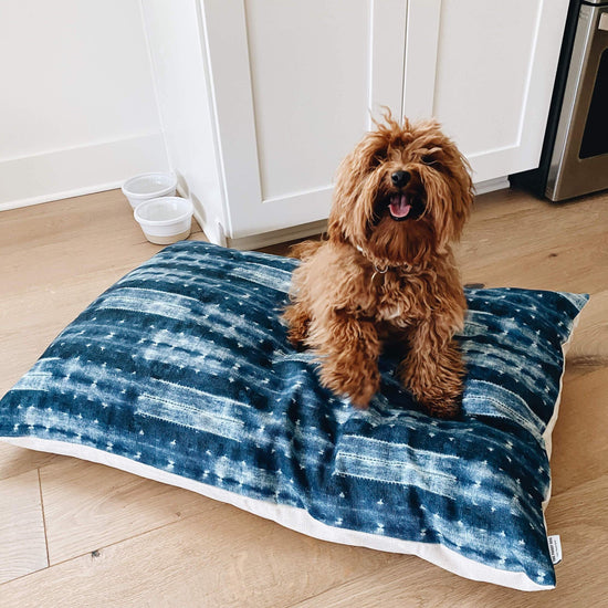 Indigo Mud Cloth Dog Bed from The Foggy Dog