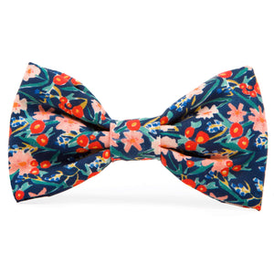 Inky Blooms Dog Bow Tie from The Foggy Dog