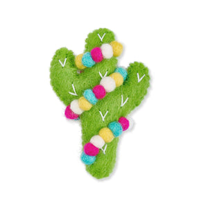 Jolly Cactus Felt Cat Toy from The Foggy Dog
