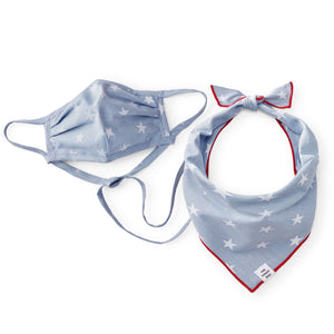 Liberty Face Mask and Bandana Set from The Foggy Dog