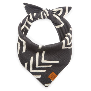 Modern Mud Cloth Black Dog Bandana from The Foggy Dog