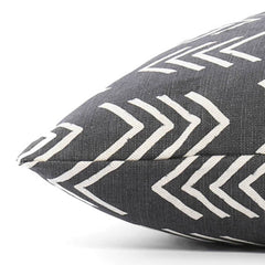 Modern Mud Cloth Black Dog Bed from The Foggy Dog
