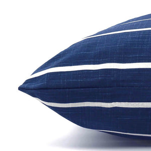 Modern Stripe Navy Blue Dog Bed from The Foggy Dog