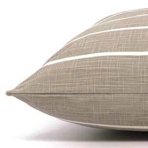 Modern Stripe Warm Stone Dog Bed from The Foggy Dog