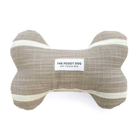 Modern Stripe Warm Stone Dog Squeaky Toy from The Foggy Dog
