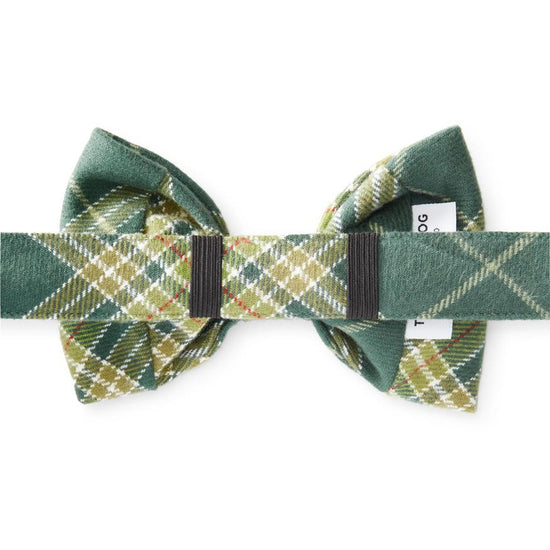 Mossy Plaid Bow Tie Collar from The Foggy Dog