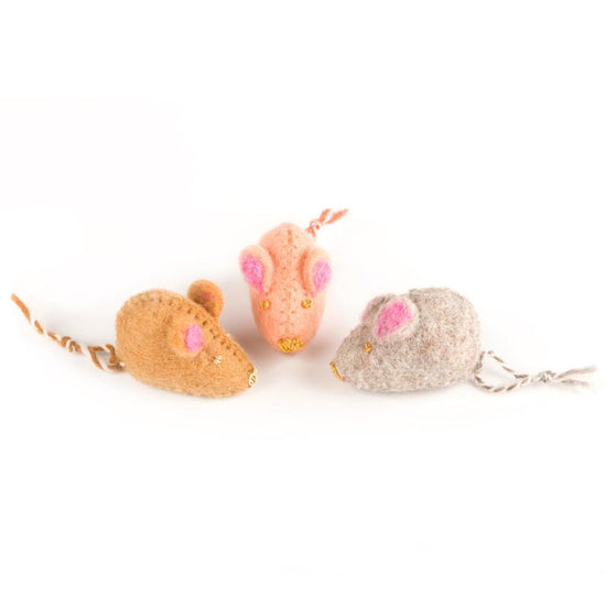 Mouse Felt Cat Toy from The Foggy Dog