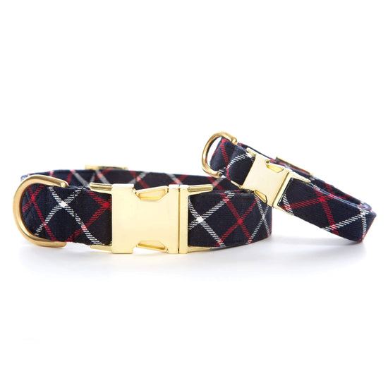 Oxford Plaid Dog Collar from The Foggy Dog
