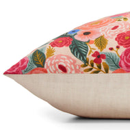 Painted Peonies Natural Dog Bed from The Foggy Dog