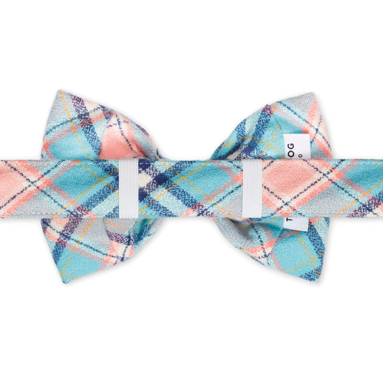 Pastel Plaid Flannel Bow Tie Collar from The Foggy Dog