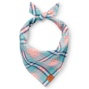 Pastel Plaid Flannel Dog Bandana from The Foggy Dog