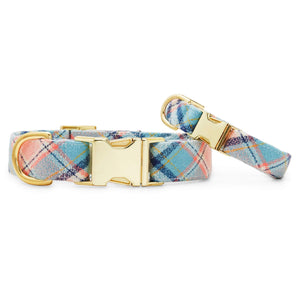Pastel Plaid Flannel Dog Collar from The Foggy Dog