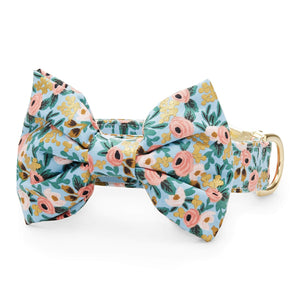 Peach Posies Bow Tie Collar from The Foggy Dog