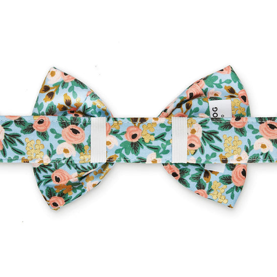 Peach Posies Dog Bow Tie from The Foggy Dog