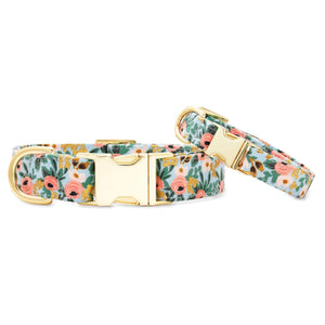 Peach Posies Dog Collar from The Foggy Dog