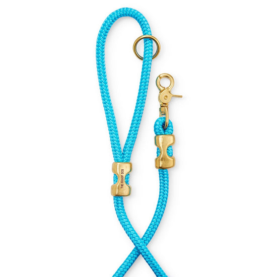 Peacock Marine Rope Dog Leash from The Foggy Dog