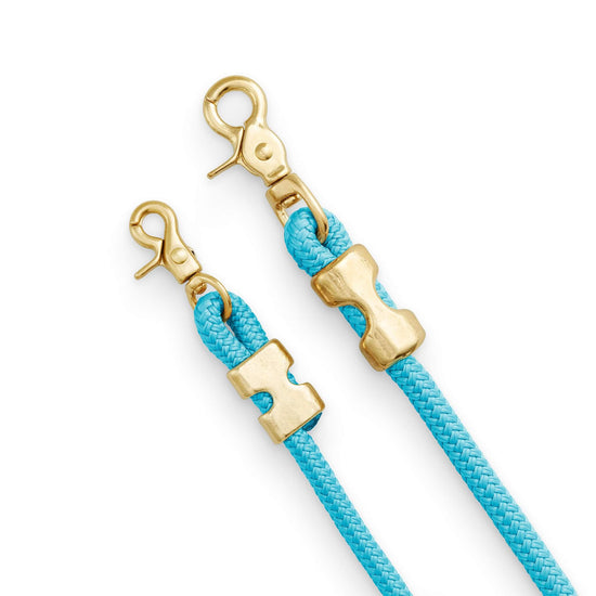 Peacock Marine Rope Dog Leash (Standard/Petite) from The Foggy Dog