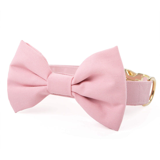 Petal Pink Bow Tie Collar from The Foggy Dog