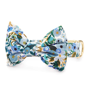 Petite Petals Blue Bow Tie Collar from The Foggy Dog