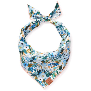 Petite Petals Blue Dog Bandana from The Foggy Dog