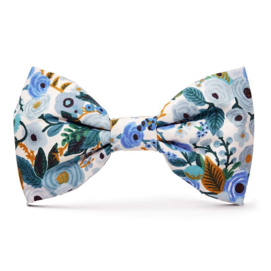 Petite Petals Blue Dog Bow Tie from The Foggy Dog