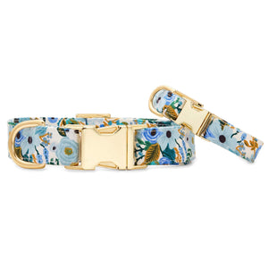 Petite Petals Blue Dog Collar from The Foggy Dog