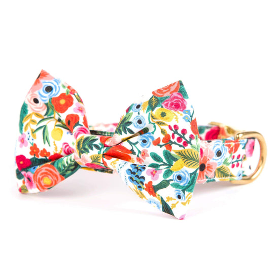 Petite Petals Bow Tie Collar from The Foggy Dog