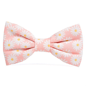 Pink Daisies Dog Bow Tie from The Foggy Dog