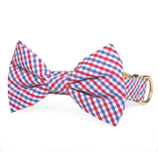 Red White and Blue Bow Tie Collar from The Foggy Dog