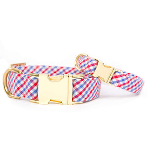 Red White and Blue Dog Collar from The Foggy Dog