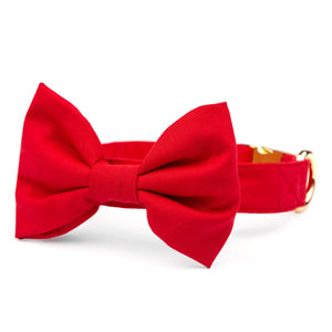 Ruby Bow Tie Collar from The Foggy Dog