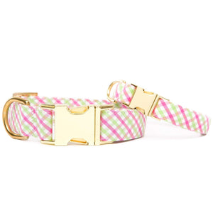 Spring Plaid Dog Collar from The Foggy Dog