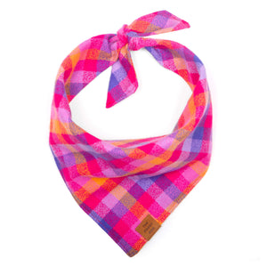 Sunset Flannel Dog Bandana from The Foggy Dog