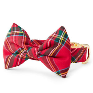 Tartan Plaid Bow Tie Collar from The Foggy Dog